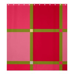Red and green Shower Curtain 66  x 72  (Large)