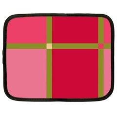 Red and green Netbook Case (XXL)