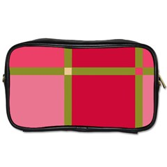 Red and green Toiletries Bags