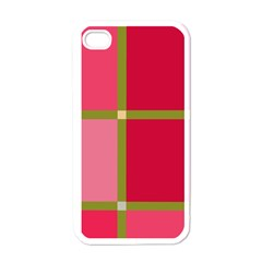 Red and green Apple iPhone 4 Case (White)