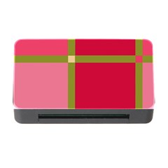 Red and green Memory Card Reader with CF