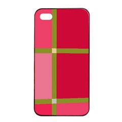 Red and green Apple iPhone 4/4s Seamless Case (Black)