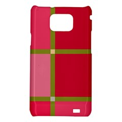 Red and green Samsung Galaxy S2 i9100 Hardshell Case