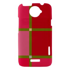 Red and green HTC One X Hardshell Case
