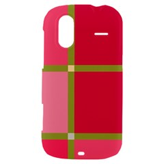 Red and green HTC Amaze 4G Hardshell Case