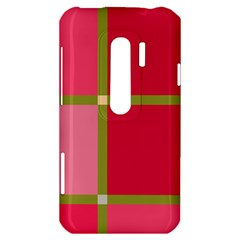 Red and green HTC Evo 3D Hardshell Case