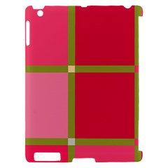 Red and green Apple iPad 2 Hardshell Case (Compatible with Smart Cover)