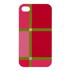 Red and green Apple iPhone 4/4S Premium Hardshell Case
