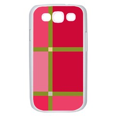 Red and green Samsung Galaxy S III Case (White)