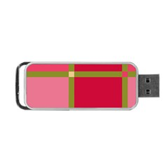 Red and green Portable USB Flash (Two Sides)