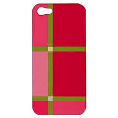 Red and green Apple iPhone 5 Hardshell Case