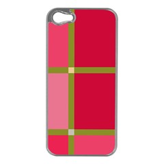 Red and green Apple iPhone 5 Case (Silver)