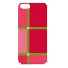 Red and green Apple iPhone 5 Seamless Case (White)