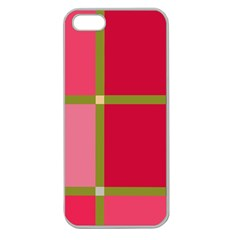 Red and green Apple Seamless iPhone 5 Case (Clear)