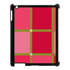 Red and green Apple iPad 3/4 Case (Black)