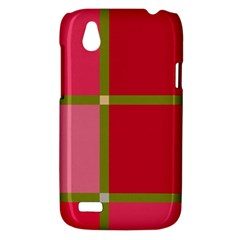 Red and green HTC Desire V (T328W) Hardshell Case