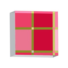 Red and green 4 x 4  Acrylic Photo Blocks