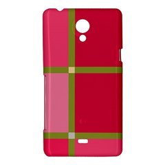 Red and green Sony Xperia T