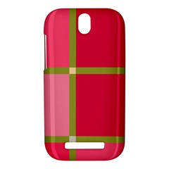 Red and green HTC One SV Hardshell Case
