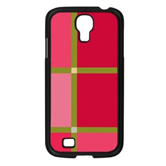 Red and green Samsung Galaxy S4 I9500/ I9505 Case (Black)