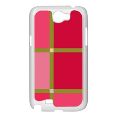 Red and green Samsung Galaxy Note 2 Case (White)