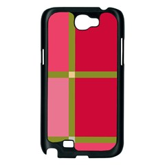 Red and green Samsung Galaxy Note 2 Case (Black)