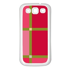 Red and green Samsung Galaxy S3 Back Case (White)