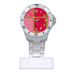 Red And Green Plastic Nurses Watch