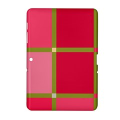Red and green Samsung Galaxy Tab 2 (10.1 ) P5100 Hardshell Case