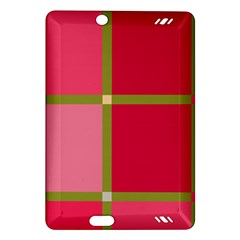 Red and green Amazon Kindle Fire HD (2013) Hardshell Case