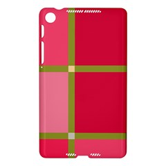 Red and green Nexus 7 (2013)