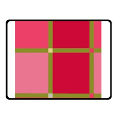 Red and green Double Sided Fleece Blanket (Small)