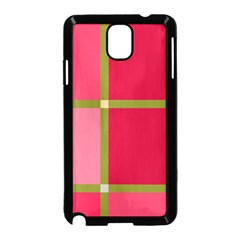 Red and green Samsung Galaxy Note 3 Neo Hardshell Case (Black)