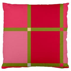 Red and green Large Flano Cushion Case (One Side)