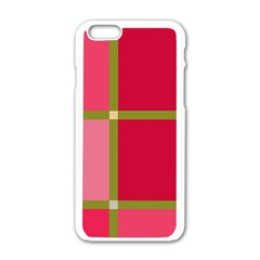 Red and green Apple iPhone 6/6S White Enamel Case