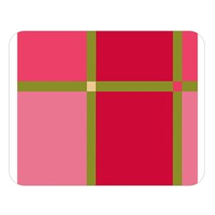 Red and green Double Sided Flano Blanket (Large)