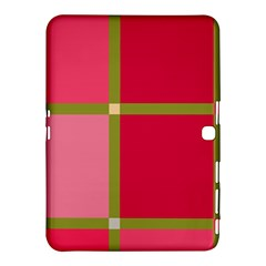Red and green Samsung Galaxy Tab 4 (10.1 ) Hardshell Case