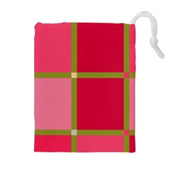 Red and green Drawstring Pouches (Extra Large)