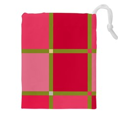 Red and green Drawstring Pouches (XXL)