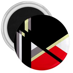 Red and black abstraction 3  Magnets