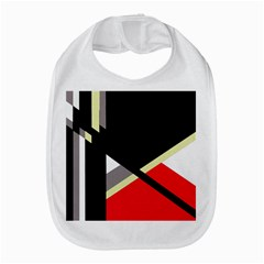 Red and black abstraction Bib
