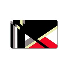 Red and black abstraction Magnet (Name Card)