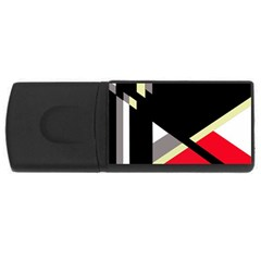 Red and black abstraction USB Flash Drive Rectangular (2 GB)