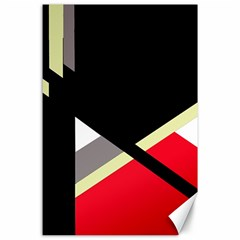 Red and black abstraction Canvas 24  x 36
