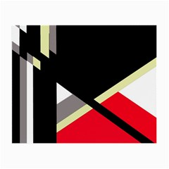 Red and black abstraction Small Glasses Cloth (2-Side)