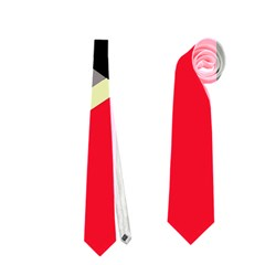 Red and black abstraction Neckties (One Side)