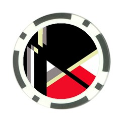 Red and black abstraction Poker Chip Card Guards