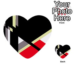 Red and black abstraction Multi-purpose Cards (Heart)