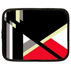 Red and black abstraction Netbook Case (Large)