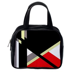 Red and black abstraction Classic Handbags (One Side)